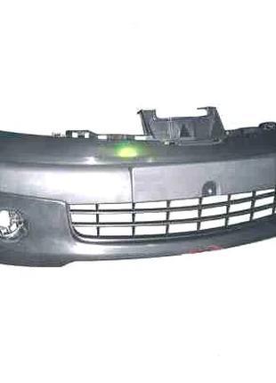 Бампер передний Nissan Note 06-09 черный с отверстиями под против