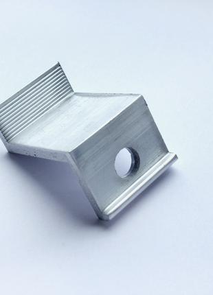 Прижим концевой 35 мм алюминиевый крепление для солнечных панелей