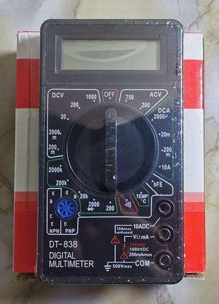 Мультиметр цифровой DT-838 (звуковая прозвонка)