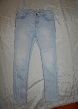 Джинсы модные голубые на подростка 13-14 лет 164см от zara boys