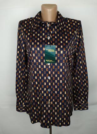 Блуза рубашка новая красивая эластичная uk 12/40/m
