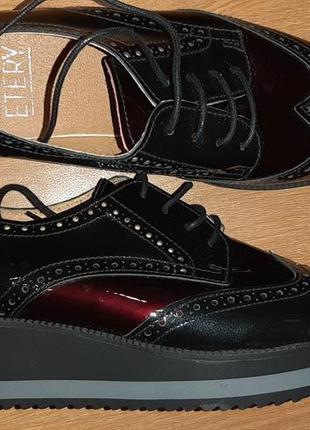 Стильные кожаные туфли etery(испания)