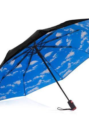 Женский зонт автомат голубое небо. лучший подарок!