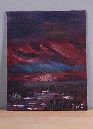 Картина живопись акрилом холст на двп