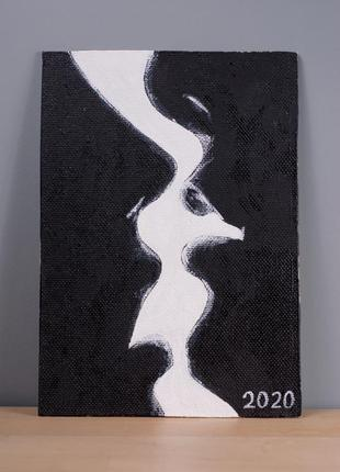 Картина интерьерная черно белый рисунок живопись