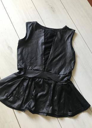 Чёрная блуза с пропиткой под кожу