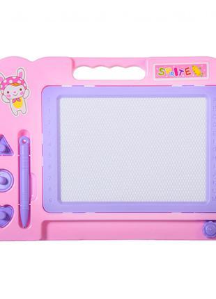 Доска для рисования C1403 магнитная (Розовый)