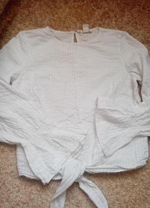 Белая блуза h&m