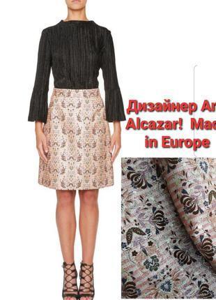 Новая брендовая юбка миди до колена гобелен блеск