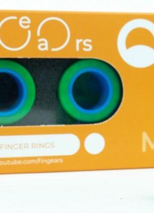 Магнитные кольца FinGears Magnetic Rings Sets Size M Green-Blu...