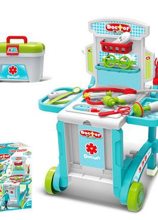 Детский игровой набор Доктора с тележкой в чемодане 008-929