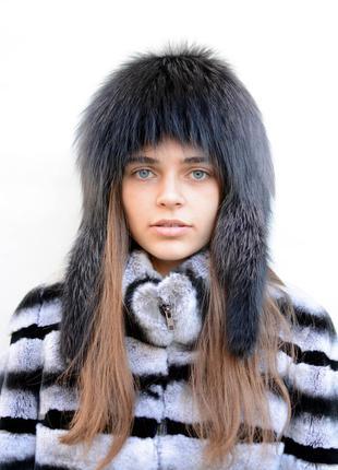 Женская шапка снопик (парик) на вязанной основе