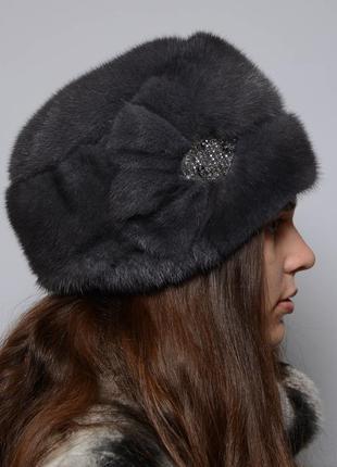 Женская норковая шапка-кубанка стелла ирис