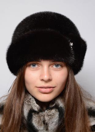Женская норковая шляпа-пряжка