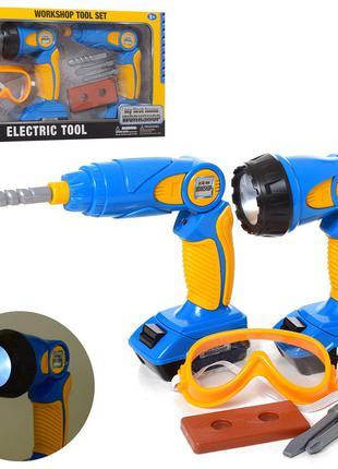 Детский набор инструментов 7929 шуруповерт-дрель