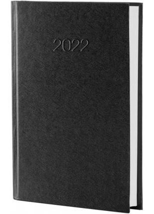 Ежедневник датированный 2022 А5 Economix MEGARA черный картон ...