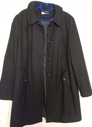 Шерстяное пальто пальто оверсайз