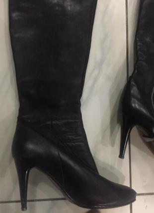 Сапоги кожаные фирмы p.cont 40 размер
