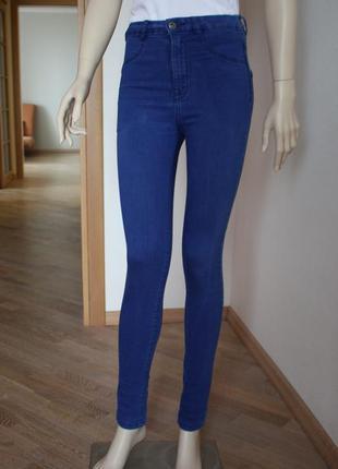 Распродажа!!! джинсы скини высокая посадка pull&bear