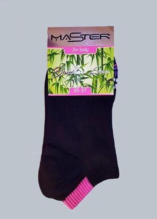 """Носки женские черные, укороченные """"бамбук"""", размер 25 / 37-39р."""