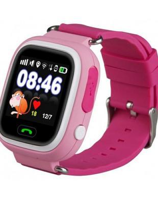 Смарт-часы детские умные Q90 оригинальные розовые
