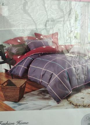 Двухспальный евро комплект постельного белья из фланели