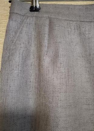 Юбка спідниця бежевая миди с карманами