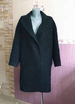 Пальто деми батал осеннее теплое черное минималистическое othe...