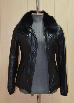 Осінньо-зимова жіноча курточка зі штучної шкіри ❤❤❤ -15% ❤❤❤