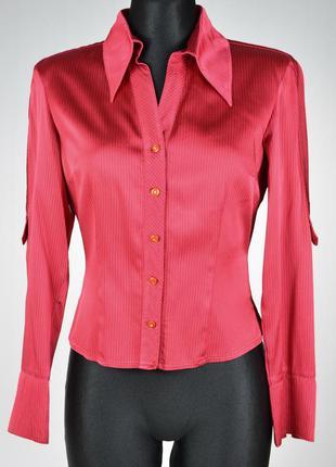 Красива атласна жіноча блузка сорочка