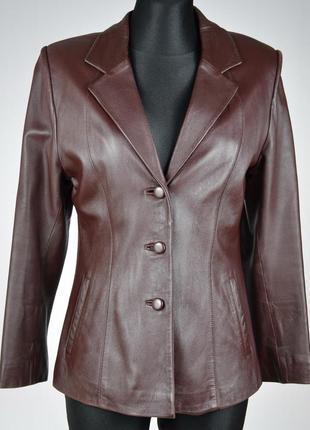 Жіночий шкіряний піджак жакет куртка