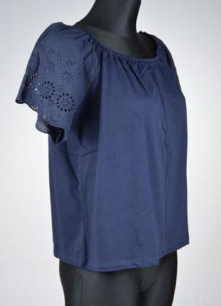 Жіноча котонова блузка з вишивкою h&m