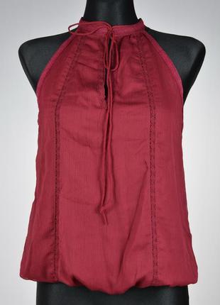 Шифонова блуза без рукавів з мереживом stradivarius 💖💖💖 - 30% 💖💖💖