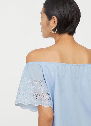 Жіноча блузка топ з вишивкою h&m