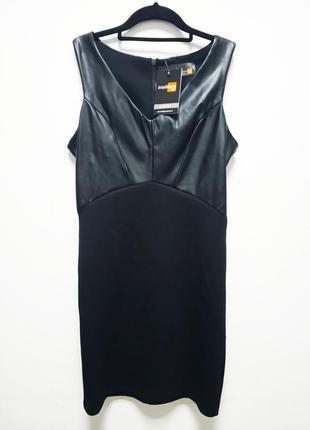 Платье с вставками из искусственной кожи от  piazza italia