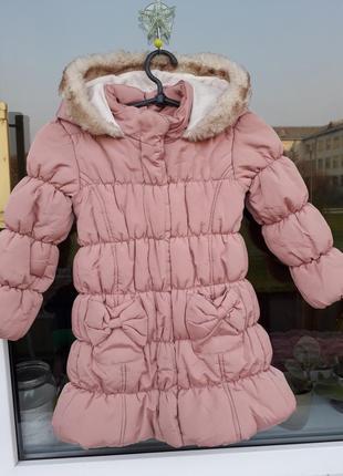 Куртка matalan с бантом на девочку 4-5 лет