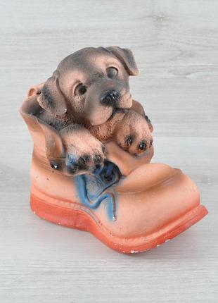 Красива копілка статуетка декоративна собачка