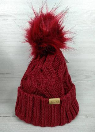 Яскрава тепла зимова дитяча шапка від c&a