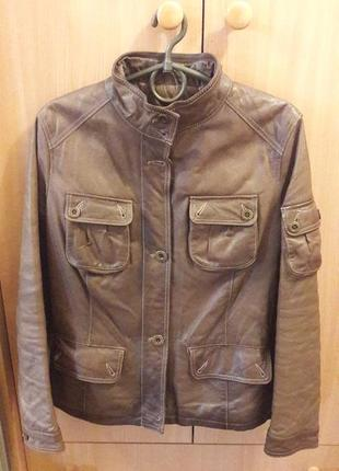Кожаная классная куртка