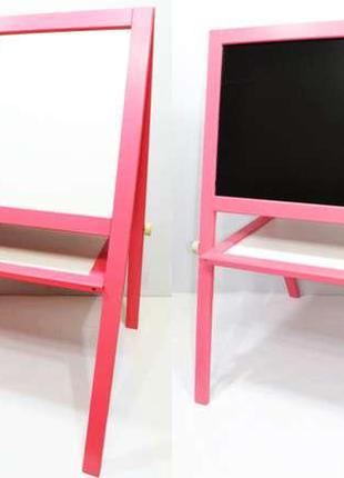 Мольберт магнитный ИГРУША (8767) Розовый