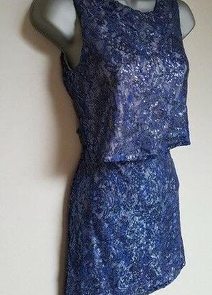 Glamours красивое платье, расшитое пайетками, р.xs-s