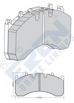 Тормозные колодки EREN WD-169 для автомобилей VOLVO,RENAULT