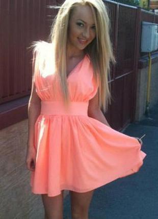 Яркое летнее женское короткое шифоновое платье распродажа