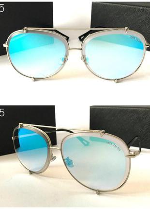 Мужские солнцезащитные очки авиаторы голубые