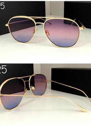 Стильные солнцезащитные очки авиаторы яркие градиент в золотой...