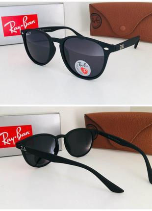 Стильные очки солнечные в матовой оправе черные