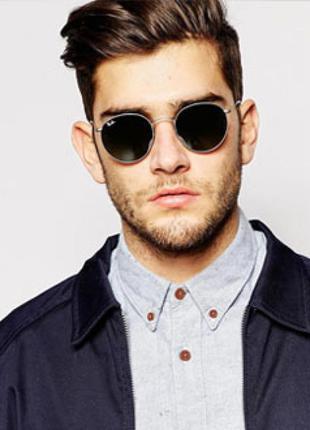 Солнцезащитные очки черные с поляризованными линзами