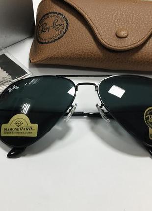 Солнцезащитные очки авиаторы линзы стекло