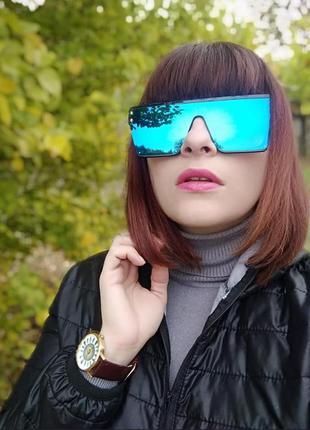 Солнцезащитные очки маска оверсайз