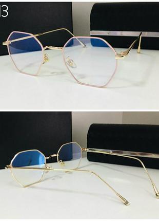 Женские очки для имиджа, работы за компьютером, оправа под зам...
